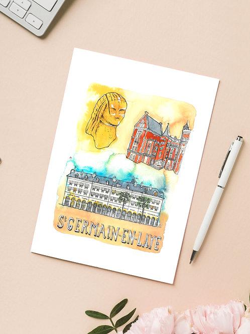 Carte 'Saint-Germain-en-Laye, France' / Carte postale A6 10x15