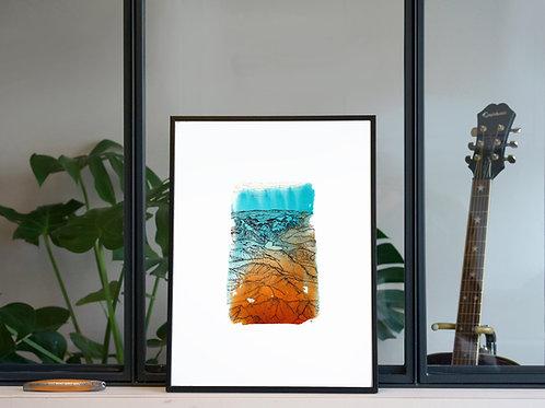 Illustration 'Vue du ciel' / Affiche 30x40