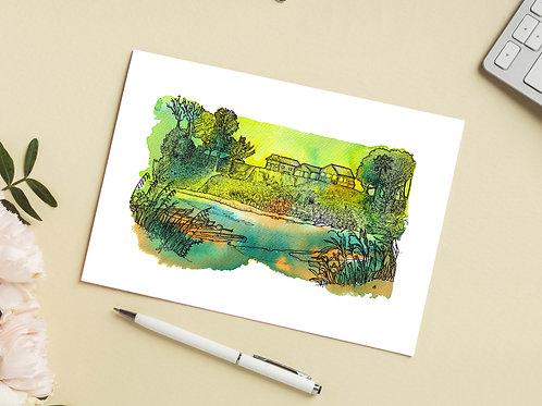 Carte 'Au bord du fleuve, dans la jungle' / Carte postale A6 10x15