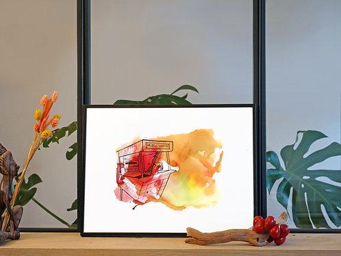 Illustration 'Machine à sous' / Affiche 30x40