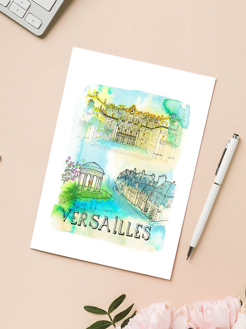 Carte 'Versailles, France' / Carte postale A6 10x15