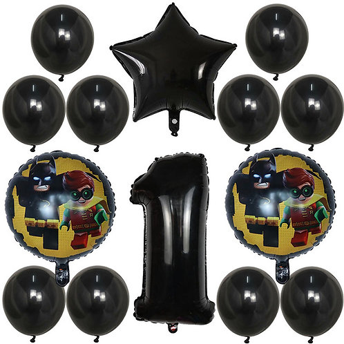 Lego Batman and Robin Number Balloons