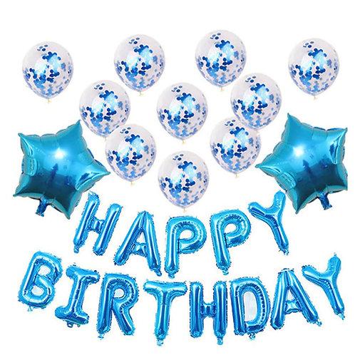 Happy Birthday balloons - Blue