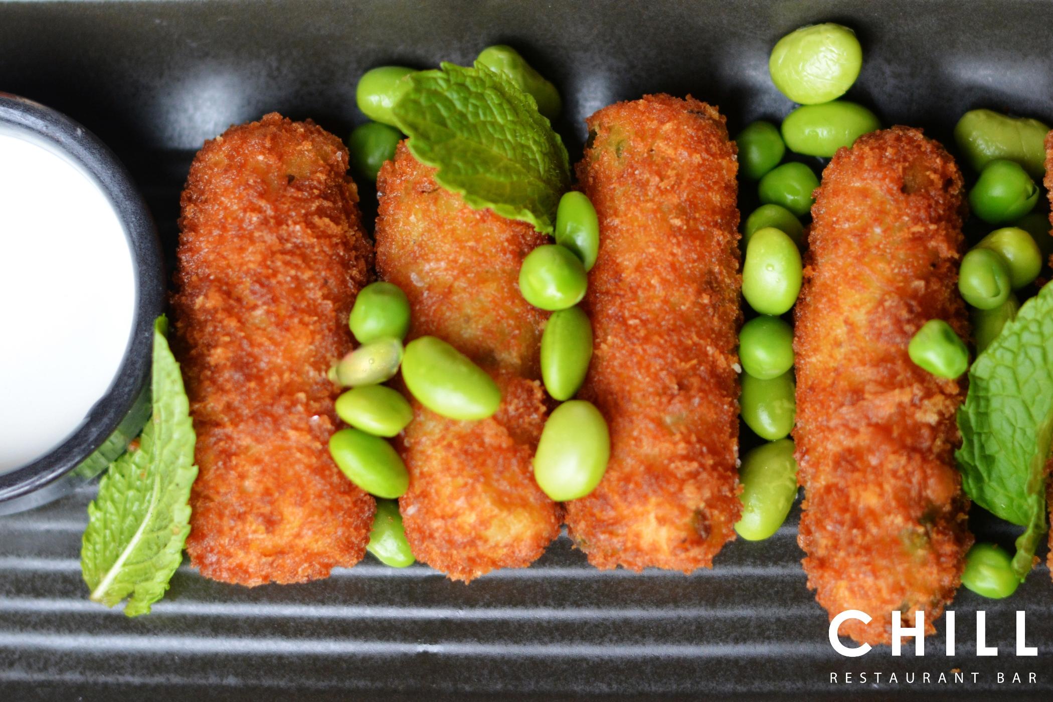 Croquette – green pea – mint - feta - li