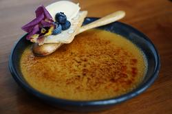 Rosemary & fig brulee - site menu