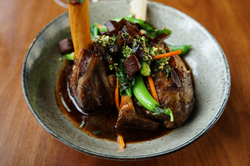 Confit lamb shank - site menu