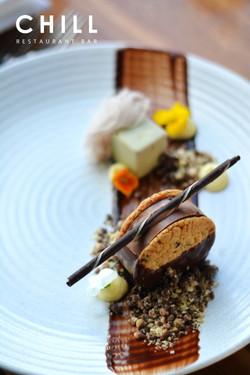 Chocolate bocadillo – ganache – floss –