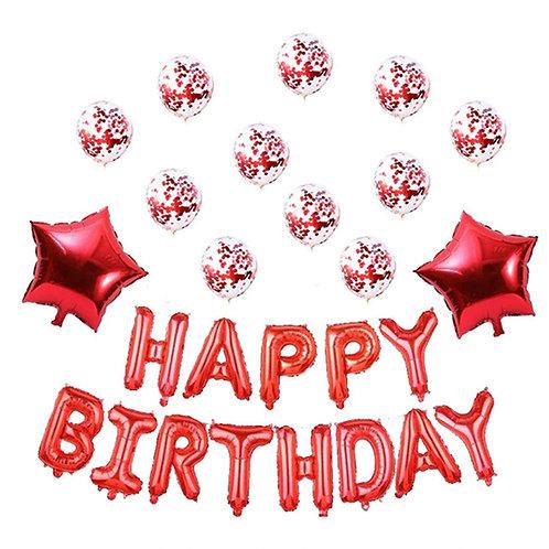 Happy Birthday balloons - Red