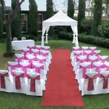 Garden Wedding Ceremony-Wedding at Bell City Preston-Bell City Preston