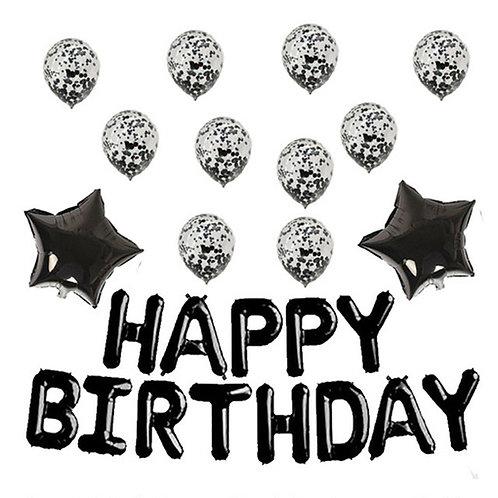 Happy Birthday balloons - Black