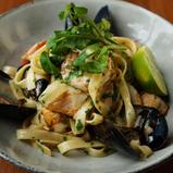 Fettucine seafood-CHILL Restaurant Bar-Bell City Preston