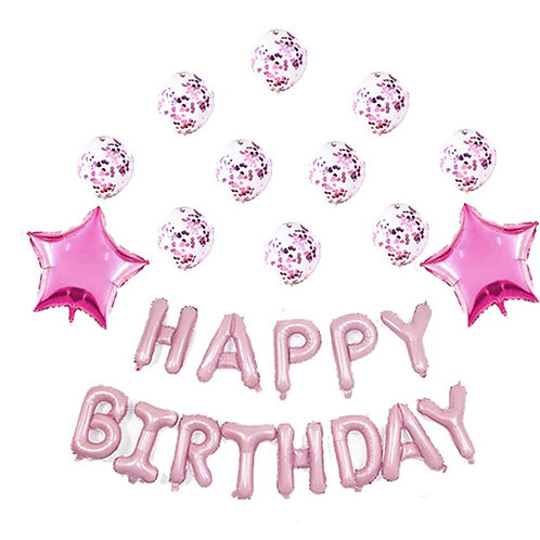 Happy Birthday balloons - Pink