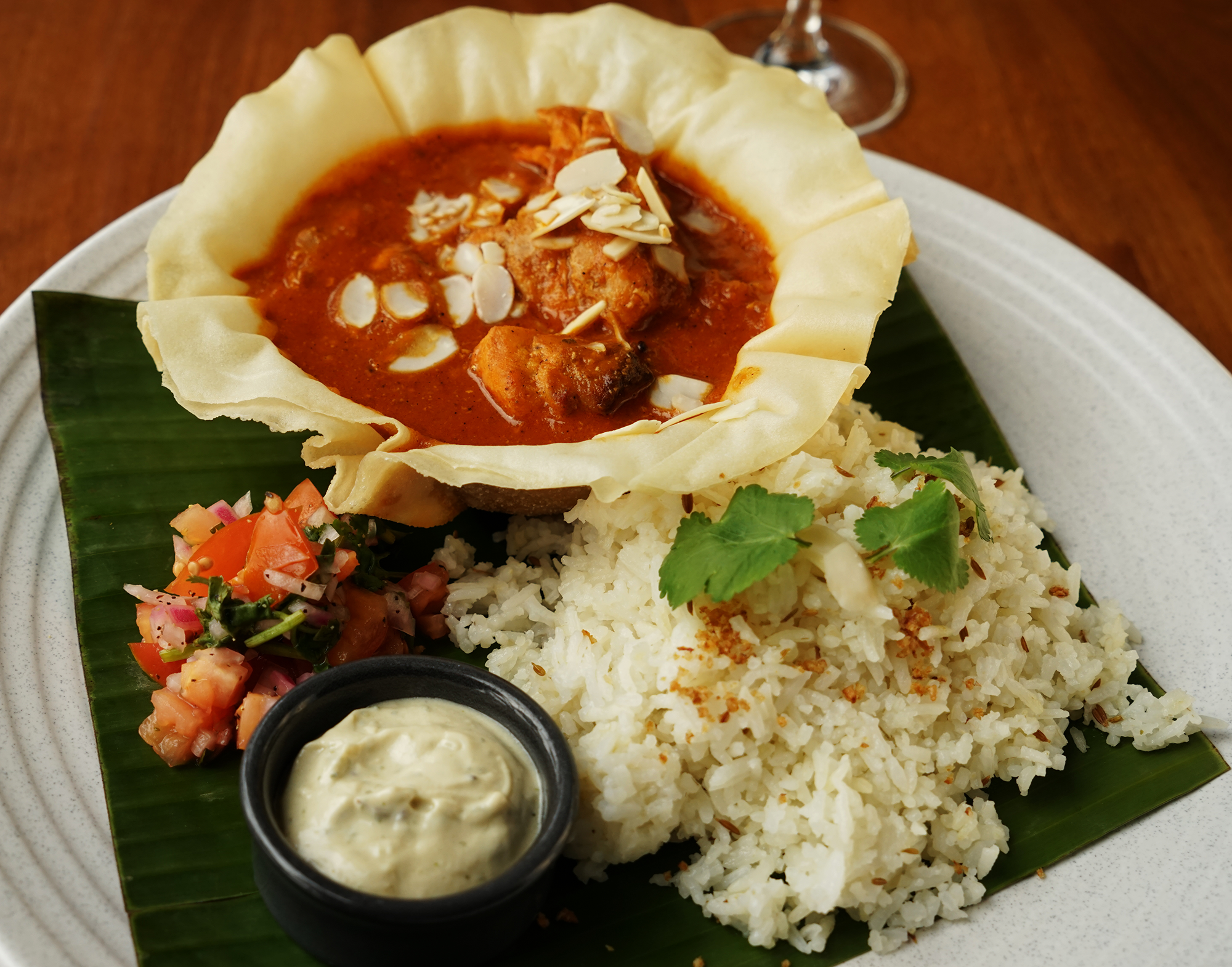 Chicken tikka masala - site menu