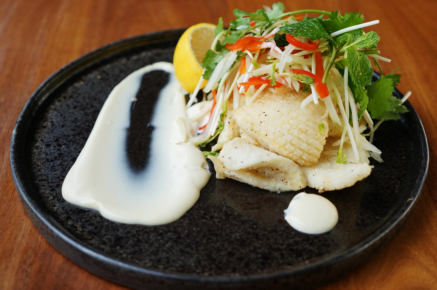 Salt & pepper squid - site menu
