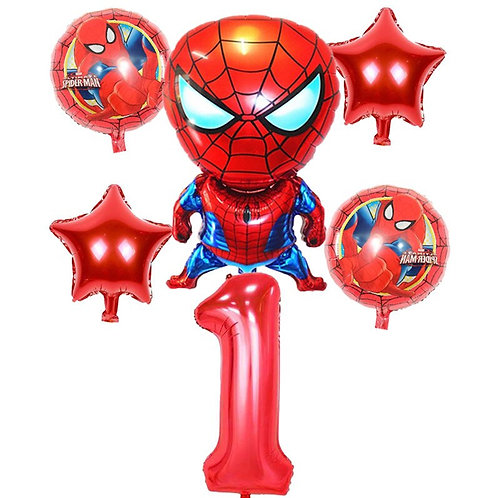 Spiderman Number Balloons