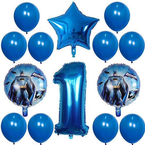 Batman Number Balloons
