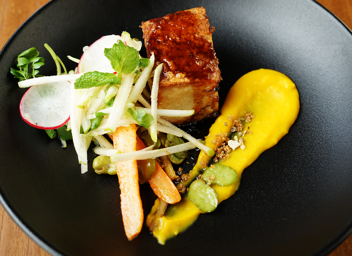 Crisp pork belly - site menu