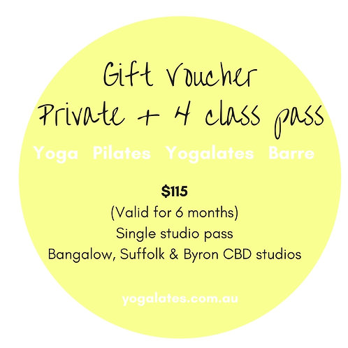 Gift Voucher - 1 private + 4 classes