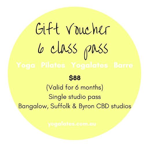 Gift Voucher - 6 Classes