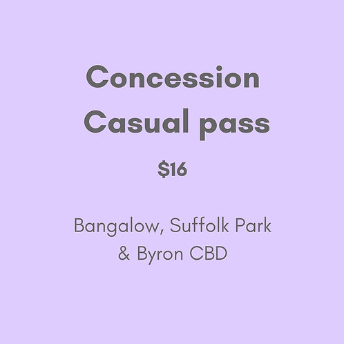 Concession Casual Pass