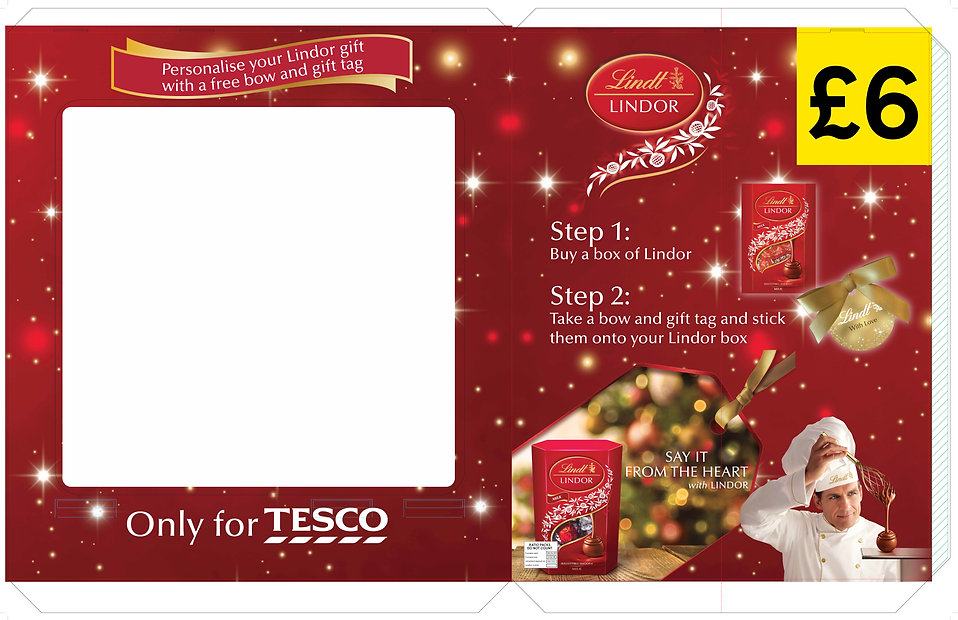 Lindor Christmas pallet display print ready artwork