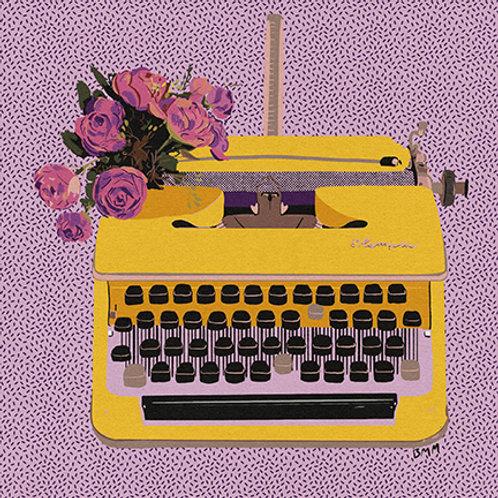 Typewriter print - Spring Floral