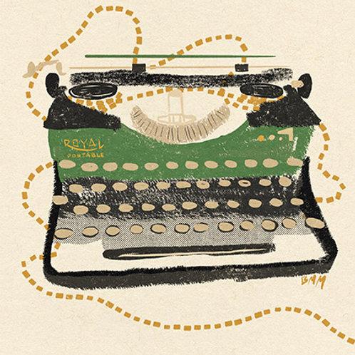 Typewriter print - Royal Portable
