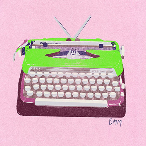 Typewriter print - Green Monster Sterling
