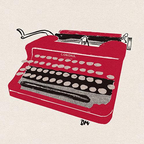 Typewriter print - Corona Red