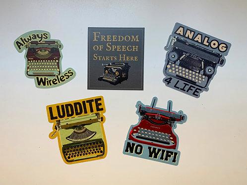 Stickers - Typewriters
