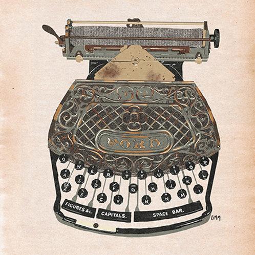 Typewriter print - Trusty Rusty Ford