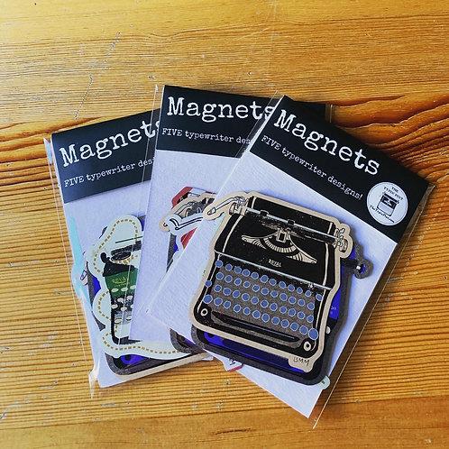 Typewriter Magnets - Set of 5!