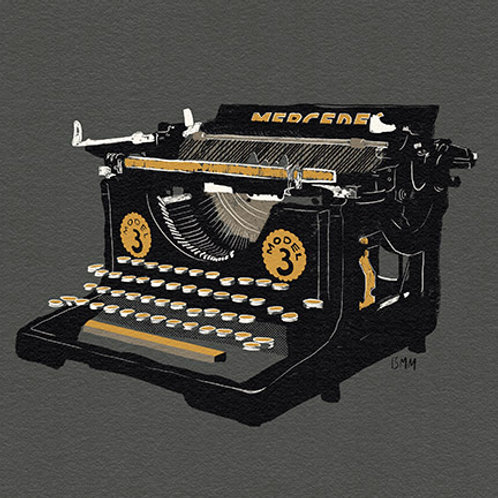 Typewriter print - Mercedes Black