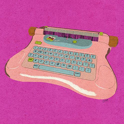 Typewriter print - Pink Toy