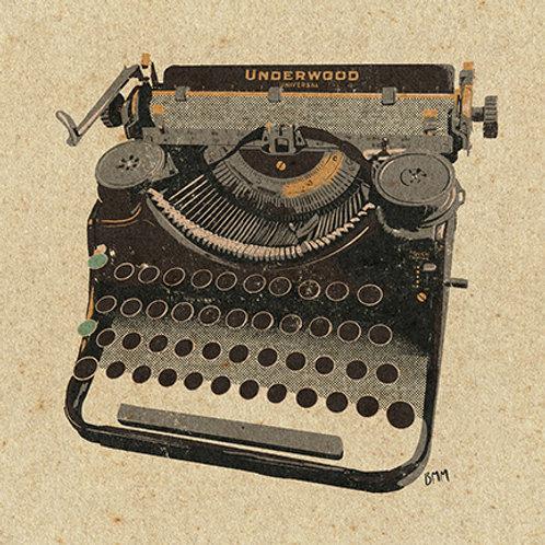 Typewriter print - War Era Underwood