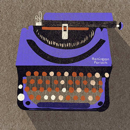 Typewriter print - Remington Purple Portable