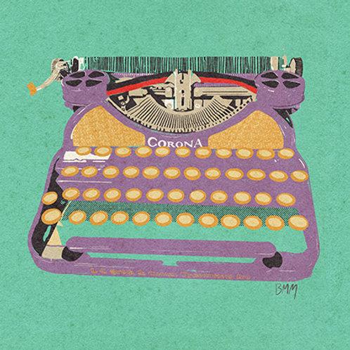 Typewriter print - Lavender Corona