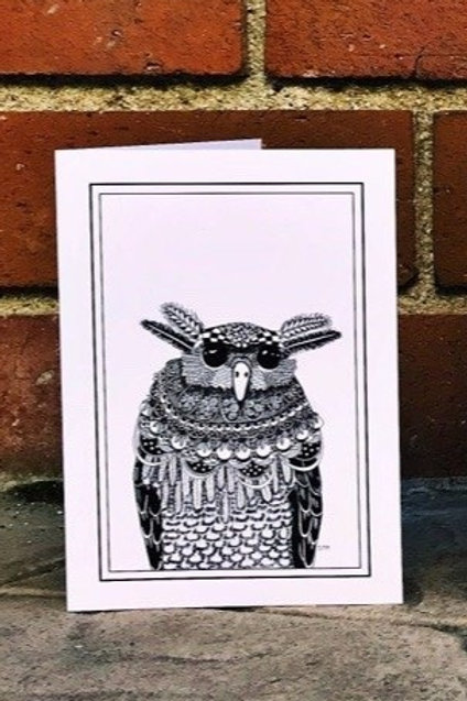 Slouchy the Owl - Greeting Card