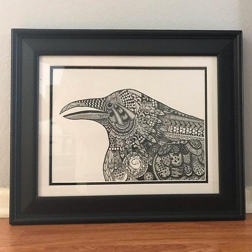 Crow Zentangle