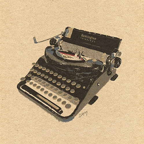 Typewriter print - Remington Noiseless