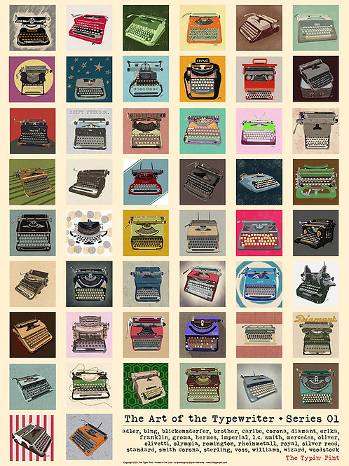 Art of the Typewriter poster - Series 01