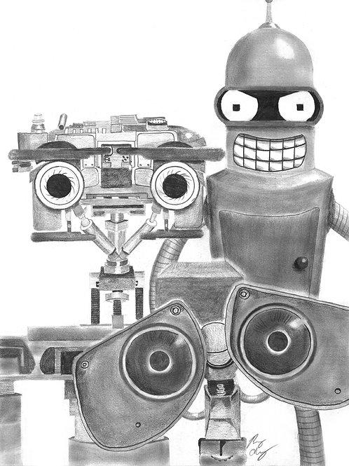 Robot Family Portrait