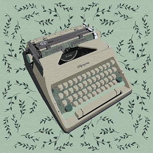 Typewriter print - Mom's Olympia