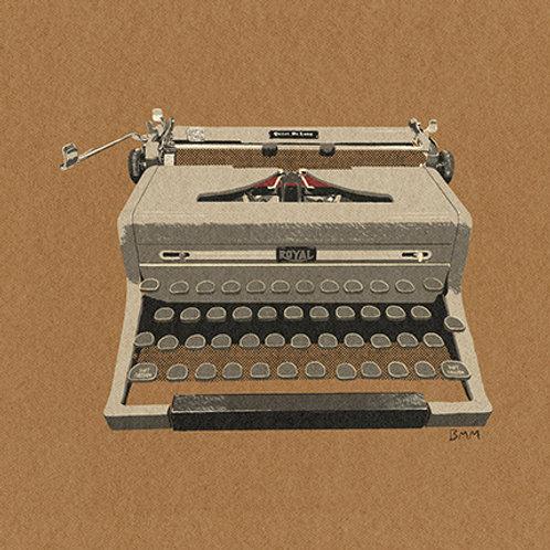 Typewriter print - Royal Latte