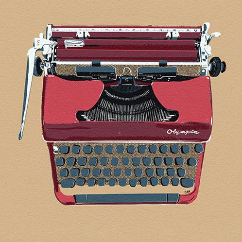 Typewriter print - Red Olympia Sherbet