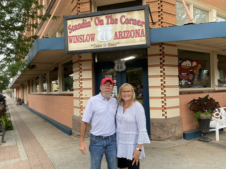 Standing on the Corner in Winslow, Arizona…