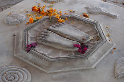 Temple feet in India