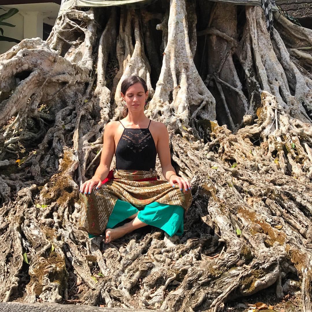 Meditating in Bali