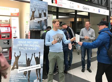 Werbe-Aktion für die Seesauna in der Migros