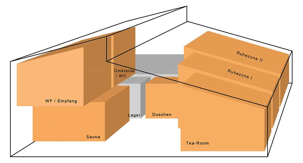 Die Sauna-Module der Seesauna Stäfa